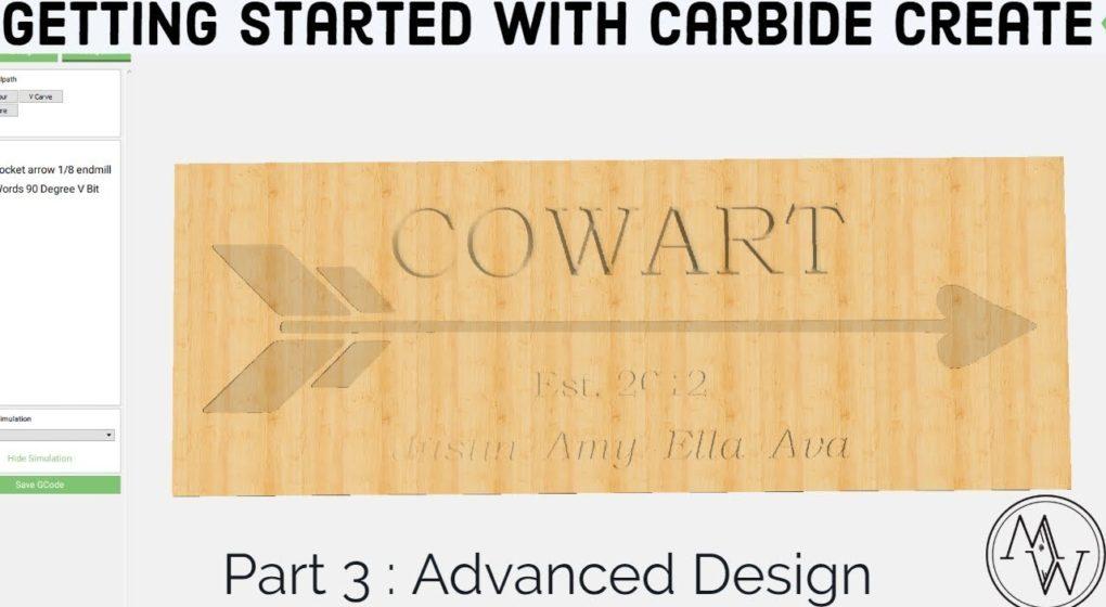 Carbide Create Shapeoko Basics – Part 3: Advanced Design // CNC